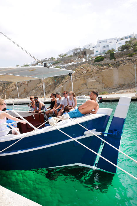 Mykonos daily cruises with traditional boat